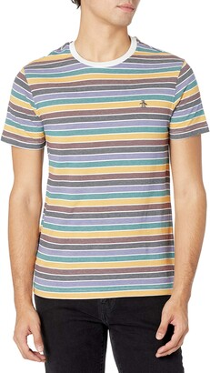 Original Penguin Men's Knit Multi Stripe Fash Tee