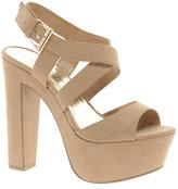 New Look Scraper Beige Platform Sandals