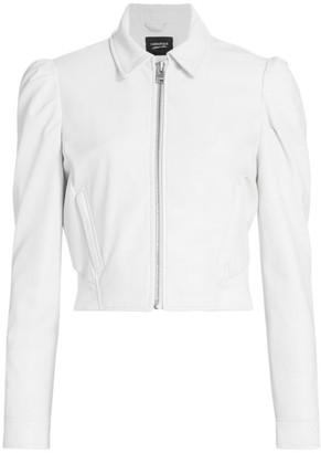 LAMARQUE Ursula Puff-Sleeve Zip Jacket