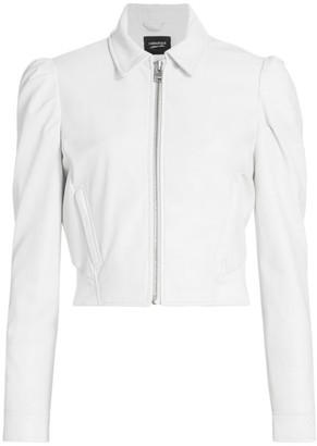 LAMARQUE Ursula Puff-Sleeve Zip Jacket