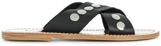 Solange Crossover Stud Sandals