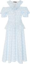 Zac Posen Cotton Eyelette Cocktail Dress