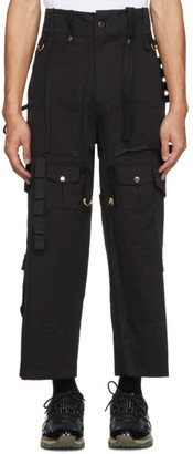 Youths in Balaclava Black Cotton Cargo Pants