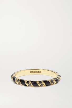 Alice Cicolini Memphis Candy 14-karat Gold, Enamel And Diamond Ring