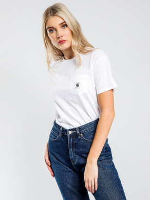 Carhartt W S/S Carrie Pocket T-Shirt in White
