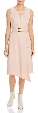 Calvin Klein Asymmetric Belted Sheath Dress