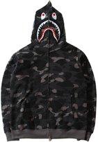 CLJJ7 Men's Shark Printed Camouflage Hooded Sweatshirt