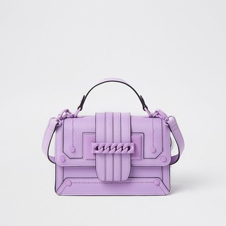 River Island Purple chain front cross body satchel bag