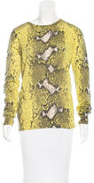 Equipment Snakeskin Print Cashmere Sweater