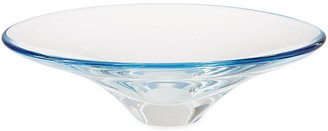 "Global Views 17"" Oval Decorative Bowl - Clear/Ocean"
