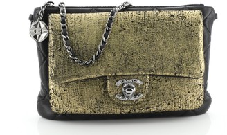 Chanel Mineral Nights Flap Evening Bag Metallic and Quilted Leather