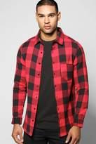 Boohoo Buffalo Check Long Sleeve Shirt