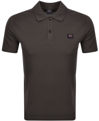 Paul & Shark Paul And Shark Logo Polo T Shirt Brown
