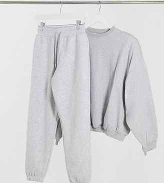 Collusion Petite skinny joggers in grey
