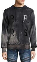 PRPS Universal Fleece Crewneck Sweatshirt with Drawstring, Black