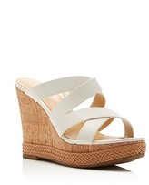 Ivanka Trump Harbie Cork Wedge Platform Sandals