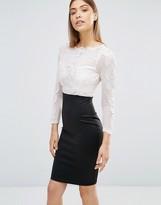 AX Paris Crochet Mesh Top Bodycon Midi Dress
