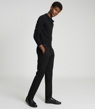 Reiss EASTBURY SLIM SLIM FIT CHINOS Black