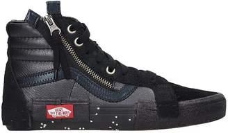 Vans Sk8-hi Reissue Sneakers In Black Leather