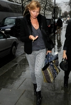 Current/Elliott Current Elliott The Stiletto in Gray Leopard as Seen On Kate Moss, Katie Holmes and More