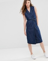 Only Long Trench Denim Dress