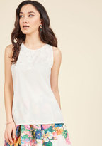 ModCloth Meaningful Meeting Sleeveless Top in L