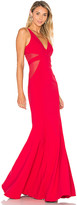 Jay Godfrey Rockefeller Gown in Red