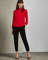 Ted Baker TEMIA Ruched high neck blouse
