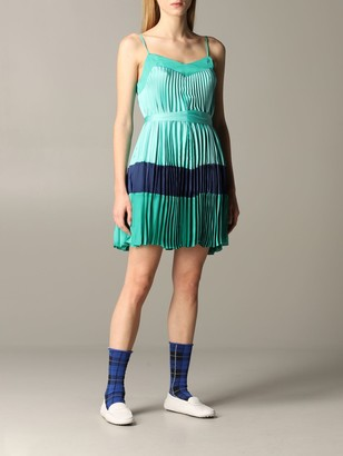 Twin-Set Short And Pleated Dress