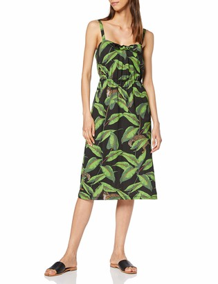 Warehouse Women's Pique Banana Leaf Midi Dress