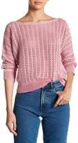 Free People Boomerang Crochet Knit Sweater