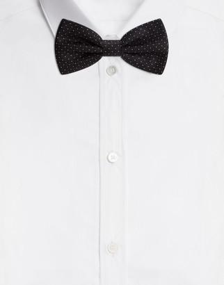 Dolce & Gabbana Bow Tie In Jacquard And Polka-Dot Print Silk