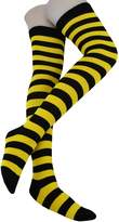 Heymei Women's Girl's Soft Cotton Stripes Stockings Over Knee High Socks WGS04
