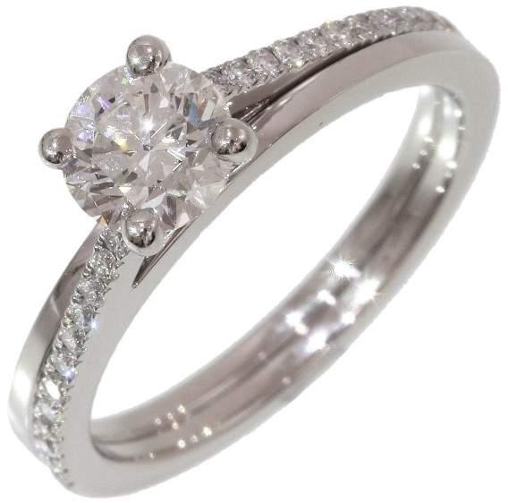 De Beers 950 Platinum 0.61ct Diamond Ring Size 3.75