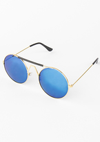 Missy Empire Bella Blue Tinted Round Sunglasses