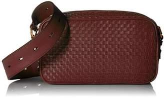 Cole Haan Zoe Woven Leather Camera Crossbody Shoulder Bag