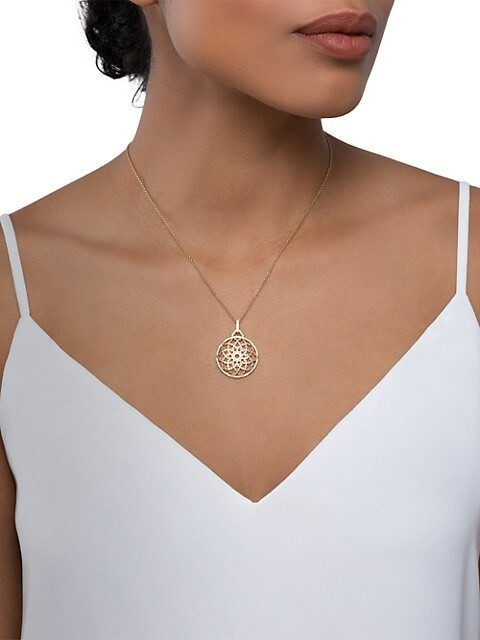 Thumbnail for your product : Birks Muse 18K Yellow Gold Medallion Pendant Necklace
