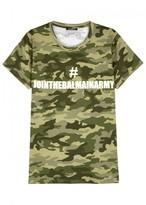 Balmain Camouflage Printed Cotton T-shirt
