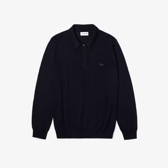 Lacoste Men's Polo Collar Merino Wool Sweater