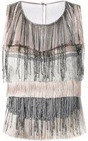 Alberta Ferretti fringed top - women - Silk/Acetate/other fibers - 40