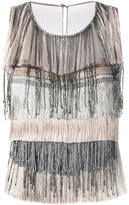 Alberta Ferretti fringed top - women - Silk/Acetate/other fibers - 42