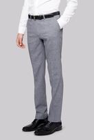 Moss Bros Skinny Fit Grey Textured Pants
