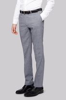 Moss Bros Skinny Fit Grey Textured Trousers