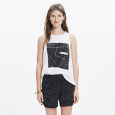 Madewell Drapey Pull-On Shorts in Dot