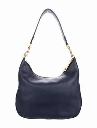 Marc Jacobs Pebbled Leather Hobo Blue