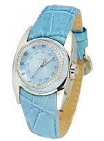 Chronotech Women's CT.7704LS/01 Blue Calfskin Band watch.