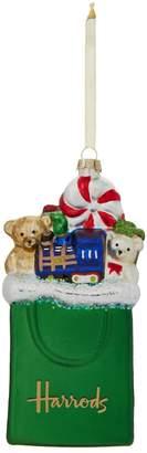 Harrods Shopping Bag Christmas Decoration