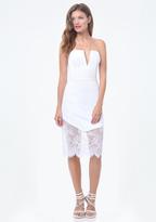 Bebe Petite Lace Trim Dress