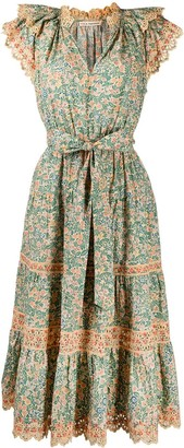 Ulla Johnson Lola broderie anglaise floral-print dress