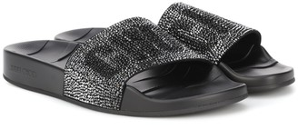 Jimmy Choo Rey crystal-embellished slides